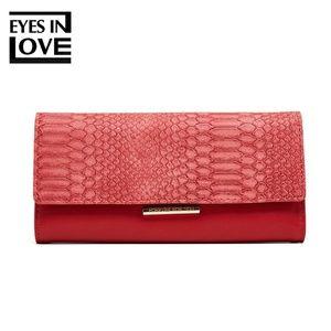 Handbags - lady purse with crocodile color red
